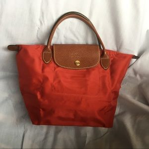 Longchamp Le Pilage Top-Handle S in Red Nylon